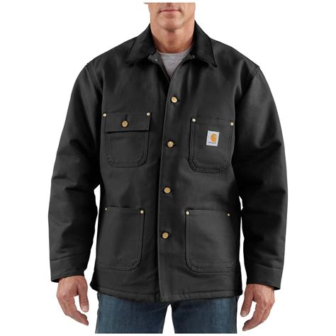 carhartt coat s carhartt 174 duck chore coat 227117 insulated jackets coats at sportsman s guide