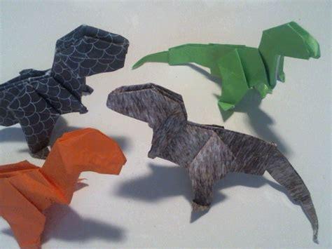 tutorial origami t rex origami t rex dinosaur tyrannosaurus origami