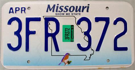 Missouri Vanity Plates by 2013 Missouri License Plate 3fr 372