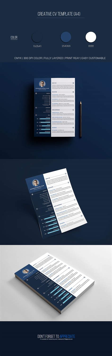 creative resume templates free psd free creative resume psd template creativetacos