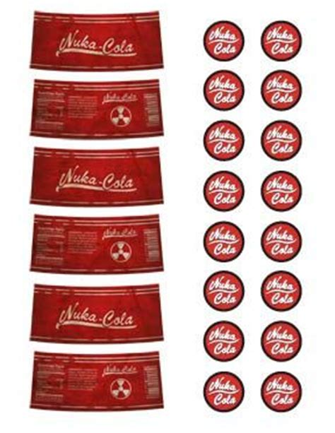 nuka cola cap template nuka cola labels pdf file by angryrobotscosplay on etsy
