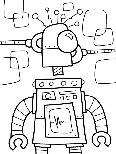 robot coloring pages printable free printable robot coloring pages for kids