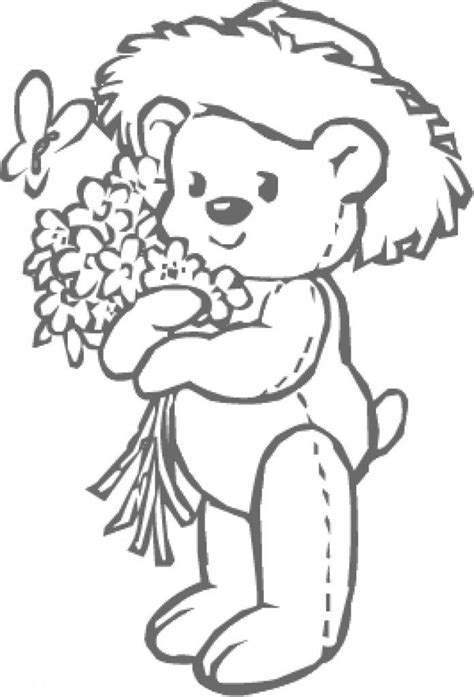 coloring pages of little flowers little bear coloring page coloring home