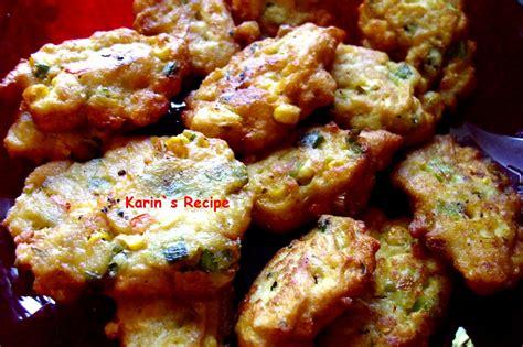 karins recipe perkedel jagung corn fritters
