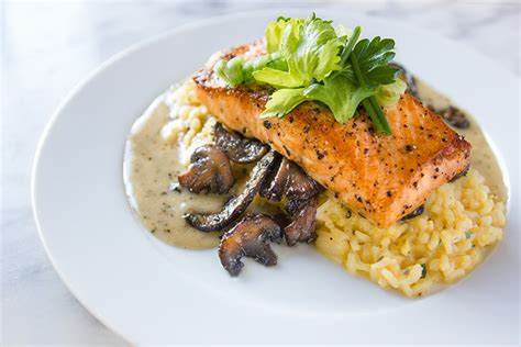 salmon and risotto rosemary