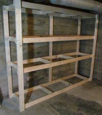 basement storage shelf