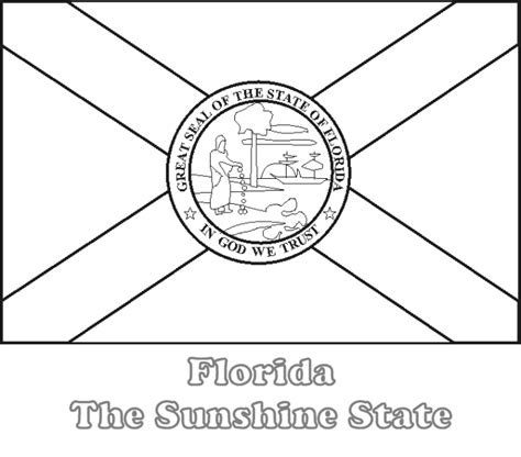 large printable florida state flag to color from