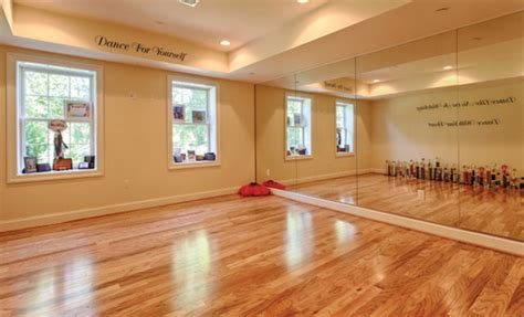 dance room excercise room traditional home gym dc