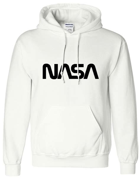 Hoodie Nasa Hitam 5 mens boy unisex nasa hoodies hooded sweatshirt sweat hoody all sizes ebay