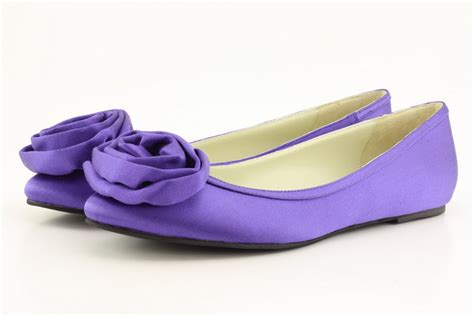 purple flats shoes purple italian silk ballet flats wedding dress from shoes