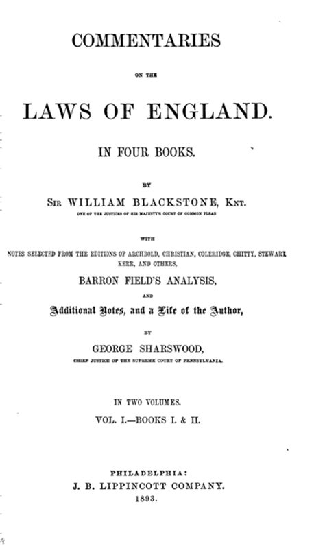 commentaries on the laws of england in four books vol 2 commentaries on the laws of england in four books volume 2