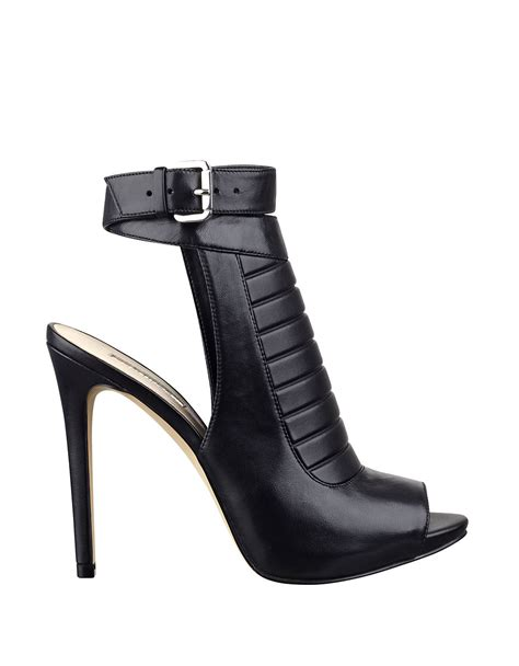 high heels guess guess analae high heel leather booties in black lyst