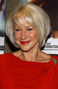 of 60 yr womens layered haircuts shiny blond layered bob for women over 60 helen mirren