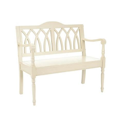 franklin bench franklin wood bench in distressed white for the home