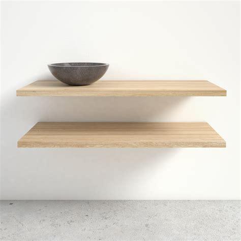 badkamerkast boven wastafel maatwerk badmeubel donau massief eiken planken met waskom