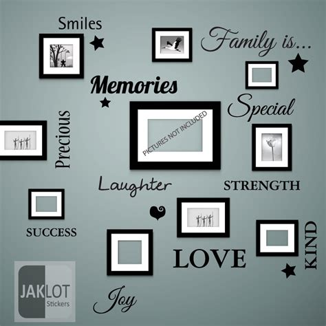 frames with vinyl family sayings family is words wall quote vinyl decal stickers for
