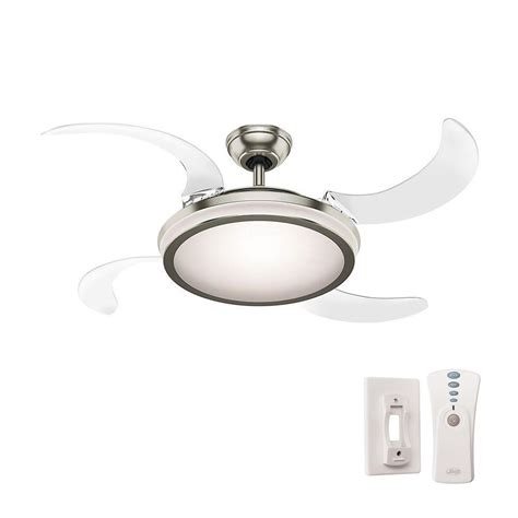 48 ceiling fan with light fanaway 48 in indoor brushed chrome ceiling fan