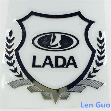 lada badge dg 11 excellent new car gold metal badge for lada