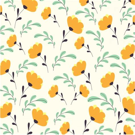 floral pattern vector commercial use cute flowers pattern vector free download