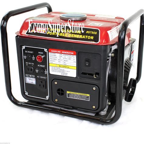 portable 1200w watt 2hp 63cc gasoline gas power generator