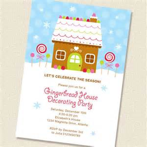 gingerbread house decorating invitation diy by paperspice