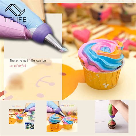 Coupons For Home Decorators ttlife icing piping bag nozzle converter tri color cream