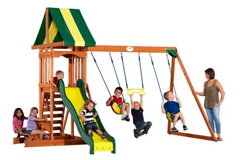 backyard discovery prestige wood swing set prestige backyard discovery