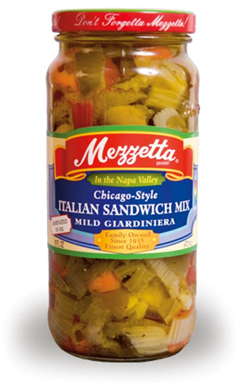 what is on a chicago mezzetta