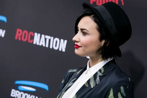 Is Demi Nation by Demi Lovato At Roc Nation Grammy Brunch In Beverly