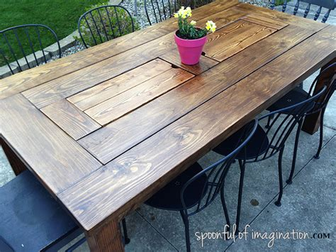 Diy Wood Patio Table Diy Outdoor Table Spoonful Of Imagination
