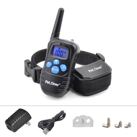 shock collar walmart petrainer pet998drb1 collar rechargeable and rainproof 330 yds remote
