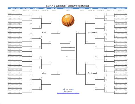 Tournament Chart Template by Tournament Bracket Templates For Excel 2016 March