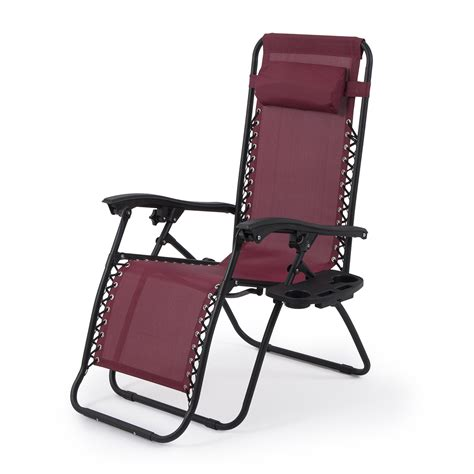 Zero Gravity Folding Recliner by 2 Set Burgundy Chair Zero Gravity Folding Lounge Recliner