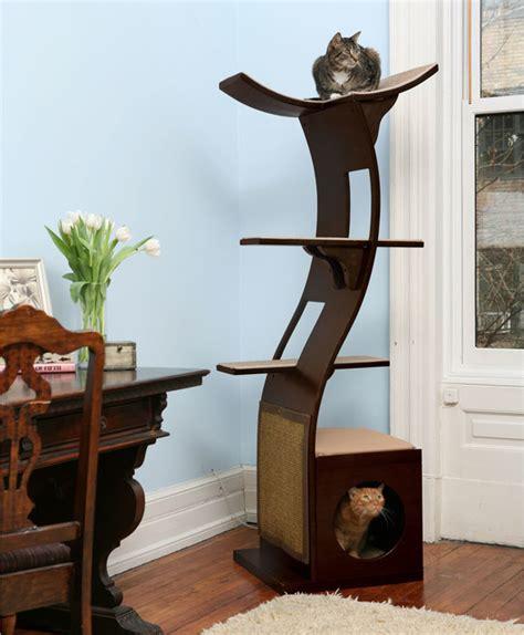 Contemporary Cat Trees Refined Feline Lotus Tower Cat Tree Contemporary