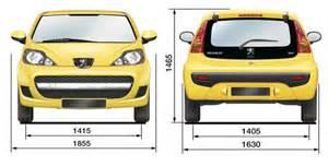 Peugeot 107 Dimensions 187 Fiche Technique Peugeot 107 1 0l Ess 68ch