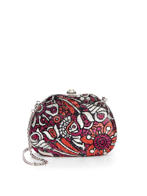 Judith Leibers Wavy Curve Clutch by Judith Leiber Hibiscus Avenue Floral Curved Clutch