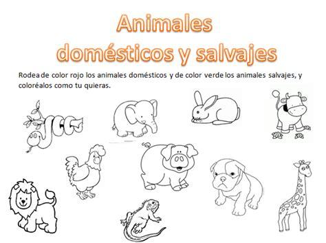 imagenes de animales salvajes para niños animales domesticos y salvajes para ni 241 os y para colorear
