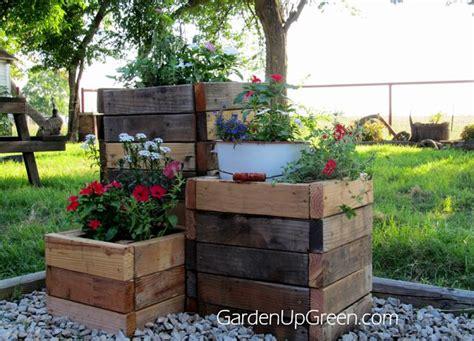 diy reclaimed wood planter boxes diy wood planters diy