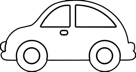 template for a car car outline coloring pages