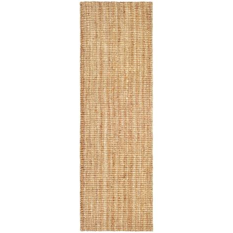 Beige Runner Rug Safavieh Fiber Beige 2 Ft 6 In X 16 Ft Rug Runner Nf447a 216 The Home Depot