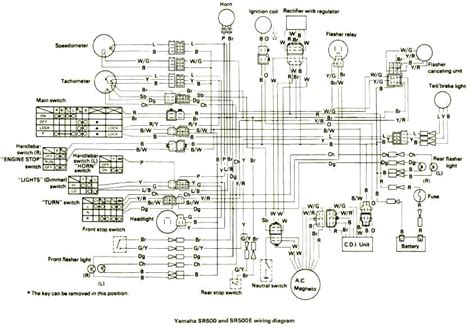 wiring diagram yamaha sr500 wiring free engine image for