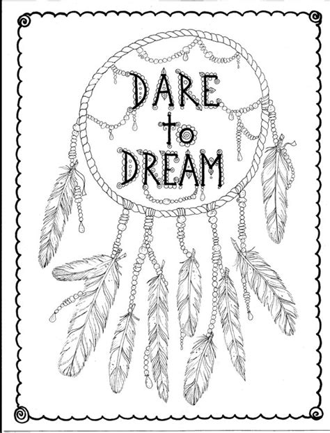 free coloring pages dream catcher instant download hand drawn dreamcatcher coloring page