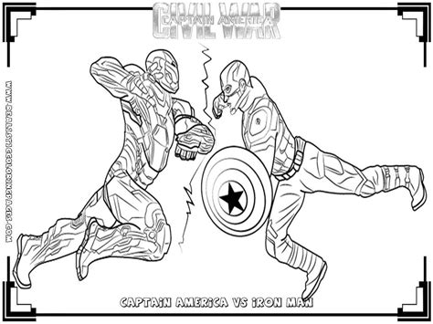 Captain America And Ironman Coloring Page | captain america civil war printable coloring pages