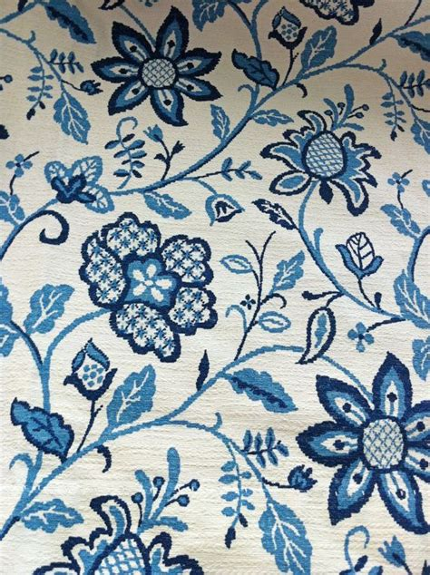 blue floral drapes vintage thermal drapes blue floral curtains