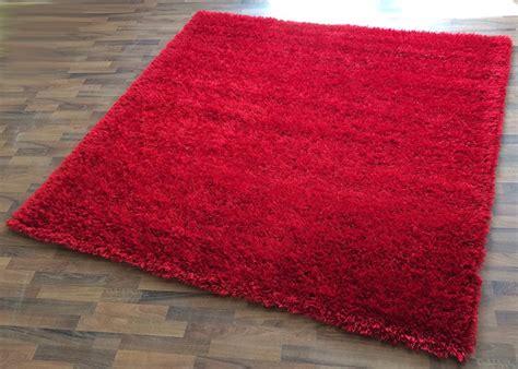 quadratische teppiche shaggy hochflor langflor teppich quadratisch rot 200x200
