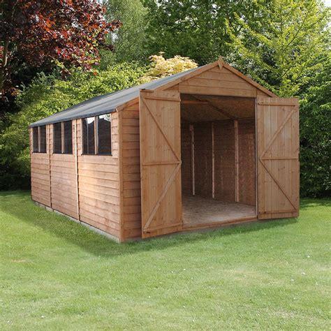 mercia modular overlap workshop shed       elbec garden buildings