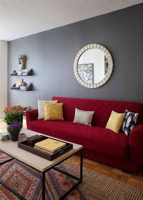 red sofa what colour walls living room best paint colors for walls with red sofa