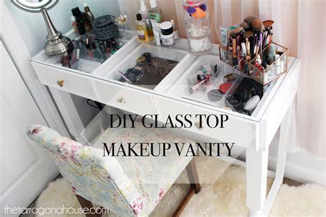 diy glass desk white diy glass top vanity diy projects