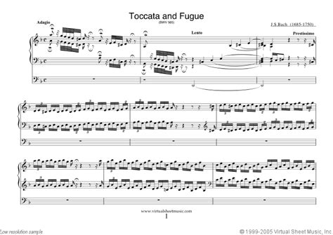 bach toccata and fugue in d minor organ bach toccata and fugue in d minor bwv 565 sheet