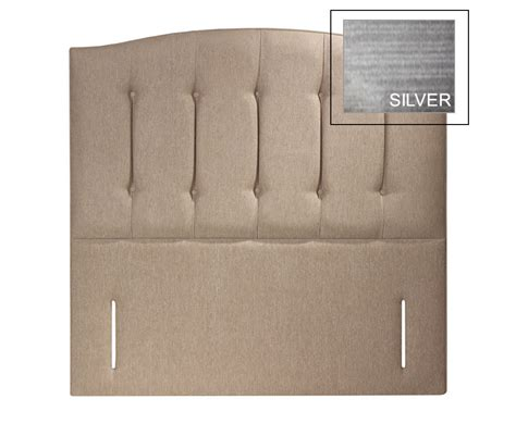 Silver Padded Headboard by Carmelo 5ft Silver Upholstered Headboard Special Offer